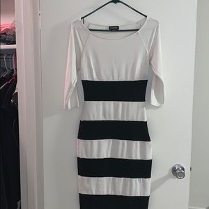 Bebe black and white dress
